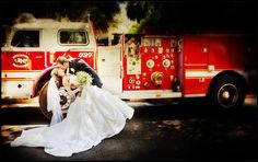 Firefighter wedding - would like to have had some pics done like this...or something similar.