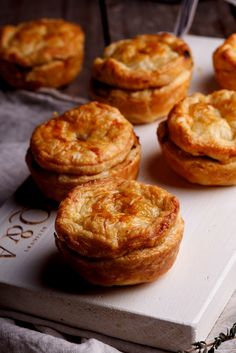 Crisp, golden pastry filled with creamy chicken and exotic mushrooms. Heaven! #recipe