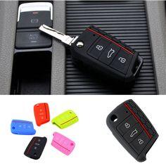Aksesoris mobil Kasus Kunci Tas Tombol Penutup Kunci Untuk Volkswagen untuk VW Golf 7 mk7 untuk Skoda untuk Octavia A7 Kasus Kunci Silikon Portect