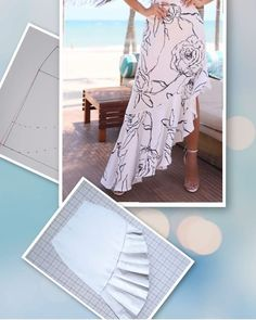 Simplicity 8606 Misses' Wrap Skirt in Four Lengths asymmetric Techniques Couture, Sewing Techniques, Skirt Patterns Sewing, Clothing Patterns, Skirt Sewing, Sewing Blogs, Sewing Hacks, Sewing Tips, Sewing Clothes