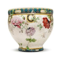 A LARGE OPTAT MILLET FAIENCE JARDINIERE LATE 19TH CENTURY, INCISED O. MILLET SEVRES MARK, SIGNED H. LAMBERT