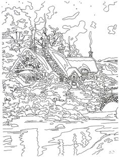 Posh Adult Coloring Book: Thomas Kinkade Peaceful Moments ...