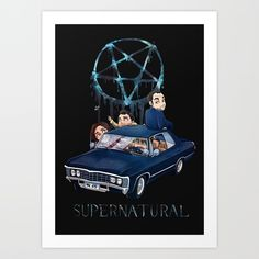 Buy Supernatural Ride Art Print by thekao. Worldwide shipping available at Society6.com. Just one of millions of high quality products available.