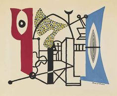 Thunderstruck (Stuart Davis (American, 1892-1964), Mortar and...)