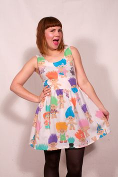 Treasure Troll Dress MADE TO ORDER by imyourpresent on Etsy, $72.00