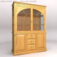 3D Model China cabinet c4d, obj, 3ds, fbx, ma, lwo 23898