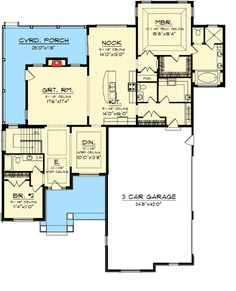 Main Floor Plan For 10140 Adu Small House Plan 2 Bedroom