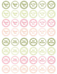Free PDF Printable for Mason Jar Lids. They work great for bottle mixes, homemade jam or fruit, or just filled with a fun gift for someone. Simply print out the x 11 PDF available below, and t… Mason Jar Party, Mason Jar Lids, Mason Jar Crafts, Thank You Printable, Printable Labels, Free Printables, Diy Gifts To Make, Homemade Gifts, Soap Labels