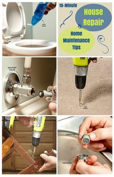house repair and home maintenance tips - simple solutions to household. house repair and home maintenance tips – simple solutions to household headaches that take 10 minutes or less – these house repairs are quick and easy Home Improvement Loans, Home Improvement Projects, Home Projects, Home Renovation, Home Remodeling, Bathroom Renovations, Home Fix, Diy Home Repair, Home Tools