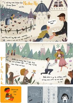 Neiko Ng Illustration . Check out my blog ramblings an arty chat here http://www.fishinkblog.wordpress.com and my stationery here http://www.fishink.co.uk , illustration here  http://www.fishink.etsy.com and here http://fishink.carbonmade.com/projects  /4182518#1 Happy Pinning ! :)