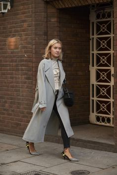 Gray Trenchcoat - The Most Inspiring Street Style at London Fashion Week - Photos