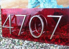 Modplexi Address Plaque for 4 House Numbers by modplexi on Etsy, $125.00