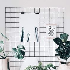 Urban jungle memo board in Scandinavische stijl