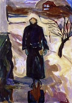 1922-24 Woman by the House Corner oil on canvas 100 x 72 cm Munch Museum, Oslo