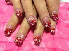 Valentine nails :)