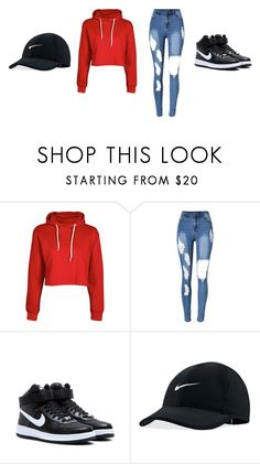 """""""🉐"""" by amethystskiess ❤ liked on Polyvore featuring Boohoo and NIKE"""