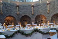 Regency Glam wedding with an abundance of candles creating an elegant feel by Debonair Venue Styling