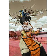 """Harper's Bazaar ART on Instagram: """"Meet Tony Gum, who is making waves with her expressive self-portraits that break gender and racial boundaries.  1st image: Tony Gum. Xhosa…"""" Xhosa, Making Waves, 1 Image, Harpers Bazaar, African Art, Gender, Princess Zelda, Portraits, Meet"""