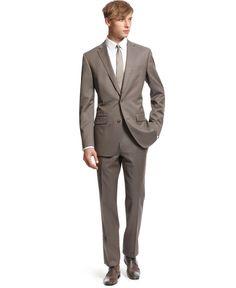 Bar III Suit, Taupe Texture Slim Fit - Mens Suits & Suit Separates - Macy's