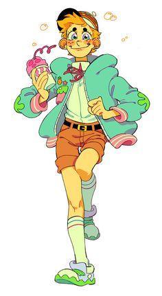 the design for the babes in this gifs are just ufffffffffffff so i cant stop myself:^( Wie Zeichnet Man Spongebob, Spongebob Anime, Spongebob Drawings, Cartoon As Anime, Cartoon Kunst, Cartoon Art, Cartoon Characters, Fan Art, Gumball