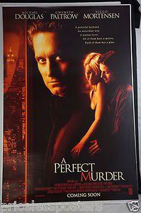 """A Perfect Murder"" Original Advance Movie Posters 1998   Michael Douglas             - for sale check the website"