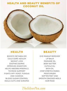 Health and beauty benefits of coconuts!