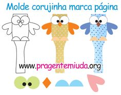 Mark the sides with ice pearl - For small people - Origami İdeas Felt Bookmark, Origami Bookmark, Finger Puppet Patterns, Paper Quilt, Felt Owls, Paper Crafts Origami, Page Marker, Fabric Toys, Diy Projects For Kids