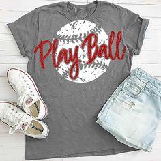 Baseball T Shirt Designs Baseball Mom Shirts, Baseball Shoes, Softball Mom, Baseball T, Sports Shirts, Cute Shirts, Baseball Season, Softball Cheers, Softball Crafts