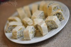 Cream Cheese Tortilla Roll-Ups pair with salsa for a yummy quick appetizer