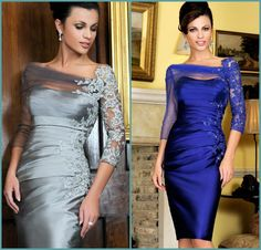 Find More Mother of the Bride Dresses Information about New Gorgeous Knee Length Plus Size Mother of the Bride Dress With Jacket Bolero Woman Sliver Blue Lace Vestidos de madrinha,High Quality Mother of the Bride Dresses from Dreamyfashion on Aliexpress.com