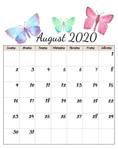 Decorative August 2020 Calendar Cute Calendar Layout, Cute Calendar, Printable Calendar Template, Kids Calendar, Blank Calendar, Calendar Design, Calendar Wallpaper, Hd Wallpaper, Monthly Planner Printable