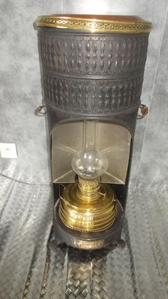 ancienne lampe a acetylene butin type sncf in. Black Bedroom Furniture Sets. Home Design Ideas