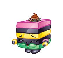 Lequorice (Shopkins 1-049, 1-058) Le'Quorice is a pink, black, and white piece of licorice allsorts. Her variant is green, black, and pink. Le'Quorice is a rare Sweet Treats Shopkin from Season One.