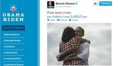 """Somos más sociales que nunca, Obama se proclamó ganador en 140 caracteres. """"Esto sucedió por ustedes. Gracias"""" BO. Que el presidente diera este mensaje en Twitter antes de subirse al escenario en Chicago subraya el tremendo papel que las redes sociales jugaron en las elecciones de 2012. Hubo más de 31 millones de tuits relacionados con la elección en la noche del día de ayer, convirtiendo estos comicios """"el acontecimiento más tuiteado en la historia política de Estados Unidos""""."""