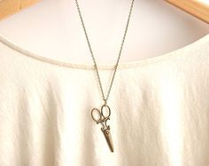 Large Scissor Necklace -28 inches