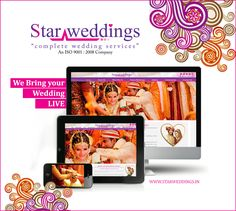 Couldn't attend your Dear one's Wedding?? Stay cool !! We are here to bring the Wedding ‪#‎LIVE‬ for you... We provide ‪#‎live_streaming‬ of your Dear one's wedding, so that who are in absentia can take part of your wedding virtually. With advanced technology, the wedding can be streamed live across the world in our StarWeddings Webpage. ‪#‎StarWeddings‬ We are the ‪#‎Superstar‬ in Weddings. call us at +919600006335 to hire us / visit www.starweddings.in