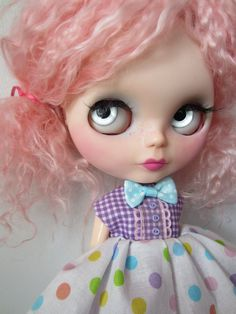 Cosmo Mohair Rerooted OOAK TBL Blythe Custom Doll by shepuppy, $399.00