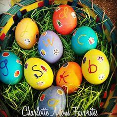 Monogrammed Easter Eggs #HTEggContest