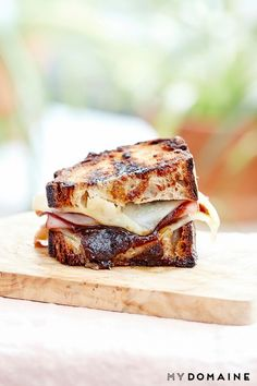 Ham, Fig, and Swiss Grilled Cheese