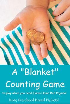 Llama Llama Red Pajama Hidden Numbers Blanket Game   Preschool Powol Packets #vbcforkids
