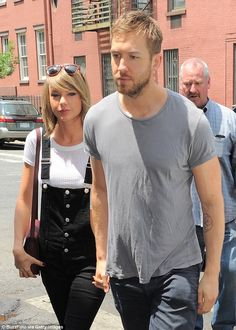 5d205113d35 Romance  Taylor has been dating the Scottish DJ - pictured here having  lunch in New