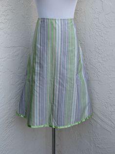 Anthropologie Snak size 6 green striped skirt