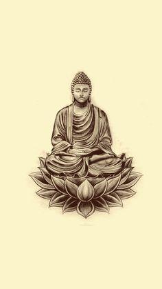 Buddha Tattoos, Buddha Tattoo Design, Shiva Tattoo Design, God Tattoos, Body Art Tattoos, Sleeve Tattoos, Dibujos Tattoo, Desenho Tattoo, Tibetan Tattoo