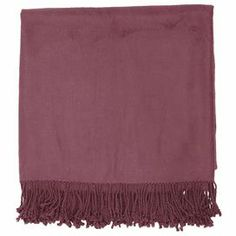 "With its bamboo and cotton design, this cozy throw is the perfect addition to your bed or favorite reading nook.       Product: Throw    Construction Material: Bamboo and cotton    Color: Plum Dimensions: 50"" x 67"""