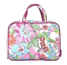 Lilly Pulitzer Target Weekender Cosmetic Bag Makeup Case Nosie Posey Pink NWT…