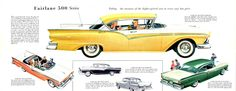 1957 Ford Fairlane 500 Town Hardtop, Convertible, Club Hardtop, Town Sedan, and Club Sedan