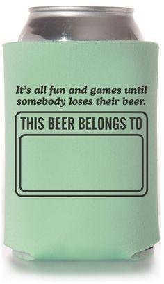 Custom Funny Can Coolers #funny #koozies #beer