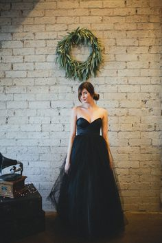 Black Floor Length Strapless  Gallery Gown by Ouma van ouma op Etsy, $980.00