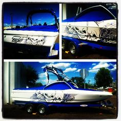Wake Graphics Wake Graphics Work Boat Wraps And Graphics They Can - Custom boat decals   easy removal