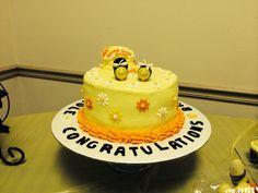 Bumble bee wedding shower cake
